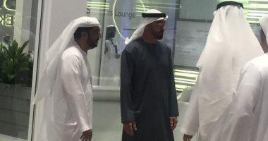محمد بن زايد يلتقى وزير البترول السعودى
