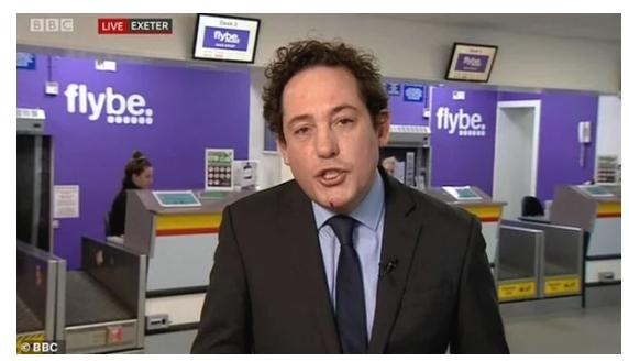 مذيع بـ BBC ينزف دمًا من وجهه خلال بثه المباشر .. فيديو