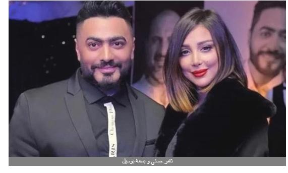 ظهور نادر لبنات تامر حسني مع والدتهما بسمة بوسيل .. صور