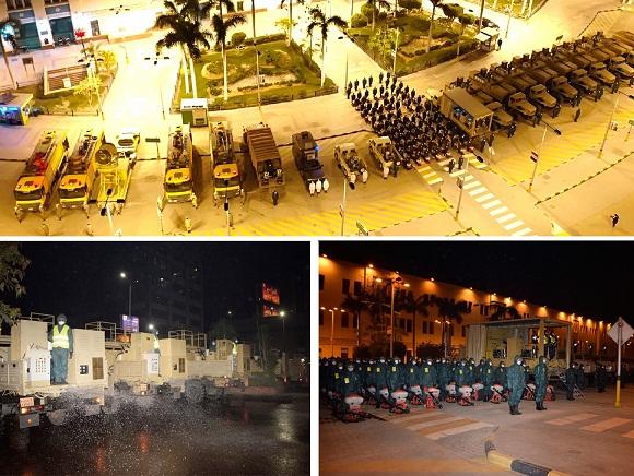 القوات المسلحة تنفذ عمليات التعقيم والتطهير الوقائى لميدان رمسيس ومحطة قطارات سكك حديد مصر والشوارع الجانبية المحيطة