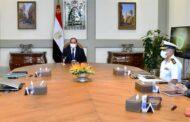 الرئيس السيسى يطلع على عرض لأحدث التقنيات الهندسية لبناء الموانئ البحرية
